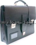 Арт. 12-029.1 Спецпортфель для документов средний, кожзам.